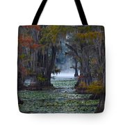 Caddo Lake Morning Tote Bag by Snow White