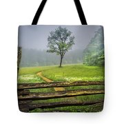 Cades Cove Misty Tree Tote Bag
