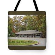 Cades Cove Ranger Station Tote Bag