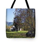 Cades Cove Tennessee Fall Scene Tote Bag