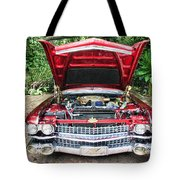 Cadillac Engine Tote Bag