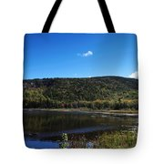 Cadillac Mountain And Lake In Acadia National Park Tote Bag