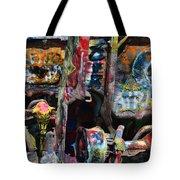 Cadillac Ranch Abstract Tote Bag