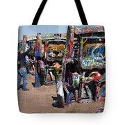 Cadillac Ranch Oblique Tote Bag