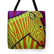 Cadmium Zebra Tote Bag