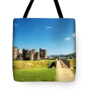 Caerphilly Castle 2 Tote Bag