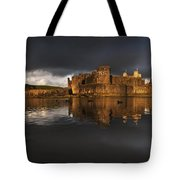 Caerphilly Castle Reflection Tote Bag