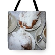 Cafe Au Lait And Beignets Tote Bag by Carol Groenen