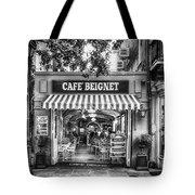 Cafe Beignet Morning Nola - Bw Tote Bag