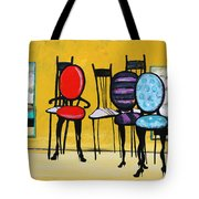 Cafe Chairs Tote Bag