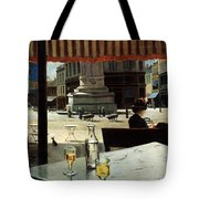 Cafe In A City Square Tote Bag