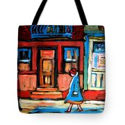 Cafe Laurier Montreal Tote Bag