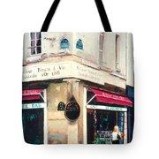 Cafe Le Barometre In Paris Tote Bag