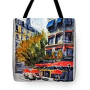Cafe Le Champ De Mars Tote Bag