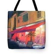 Cafe Scene Cannes France Tote Bag