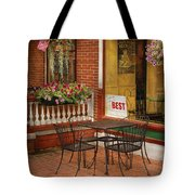 Cafe - The Best Ice Cream In Lancaster Tote Bag by Mike Savad