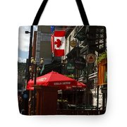 Cafes And Bars Along Crescent Street Tote Bag