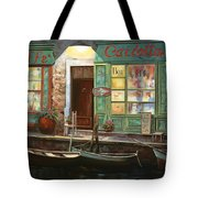 caffe Carlotta Tote Bag by Guido Borelli