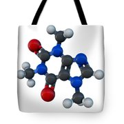 Caffeine Molecular Model Tote Bag