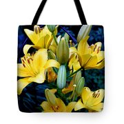 Caged Lilies Tote Bag
