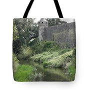 Cahir Castle Wall And River Suir Tote Bag