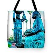 Cahuilla Women Sculpture In Palm Springs-california  Tote Bag