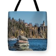 Cairn An Split Rock Lighthouse Tote Bag
