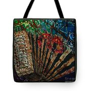 Cajun Accordian - Bordered Tote Bag