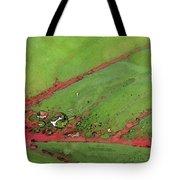 Caladium Leaf And Drop Tote Bag