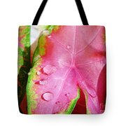Caladium Leaf Tote Bag