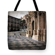Calahorra Cathedral And Palace Tote Bag