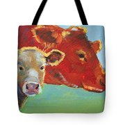 Calf And Cow Painting Tote Bag