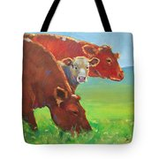 Calf And Cows Painting Tote Bag