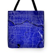 Calgary Street Map - Calgary Canada Road Map Art On Colored Back Tote Bag