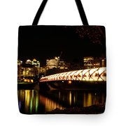 Calgary's Peace Bridge Tote Bag