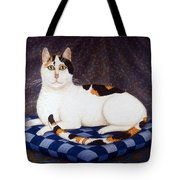 Calico Cat Portrait Tote Bag