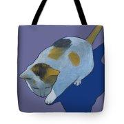 Calico On Purple Tote Bag