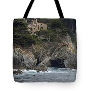 California Cliffside Ocean House Tote Bag by Bruce Gourley