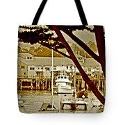 California Coastal Harbor Tote Bag