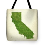 California Grass Map Tote Bag by Aged Pixel