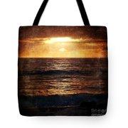 California Grunge Sunset Tote Bag