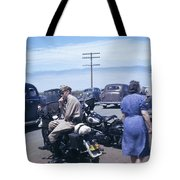 California Highway Patrol Harley Davidson Circa 1948 Tote Bag