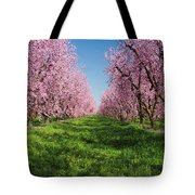 California Peach Tree Orchard  Tote Bag