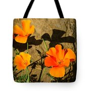California Poppies - Crisp Shadows From The Desert Sun  Tote Bag