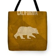 California State Facts Minimalist Movie Poster Art  Tote Bag