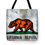 California State Flag Weathered And Worn Tote Bag
