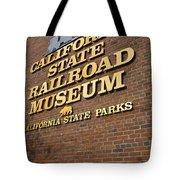 California State Railroad Museum Tote Bag