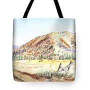 Californian Landscape Saint John Ranch Bald Mountain View Shasta County Tote Bag