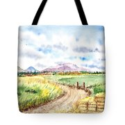Californian Landscape Saint Johns Ranch Of Mountain Shasta County Tote Bag