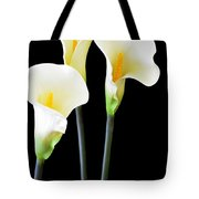 Calla Lilies In Triplicate Tote Bag